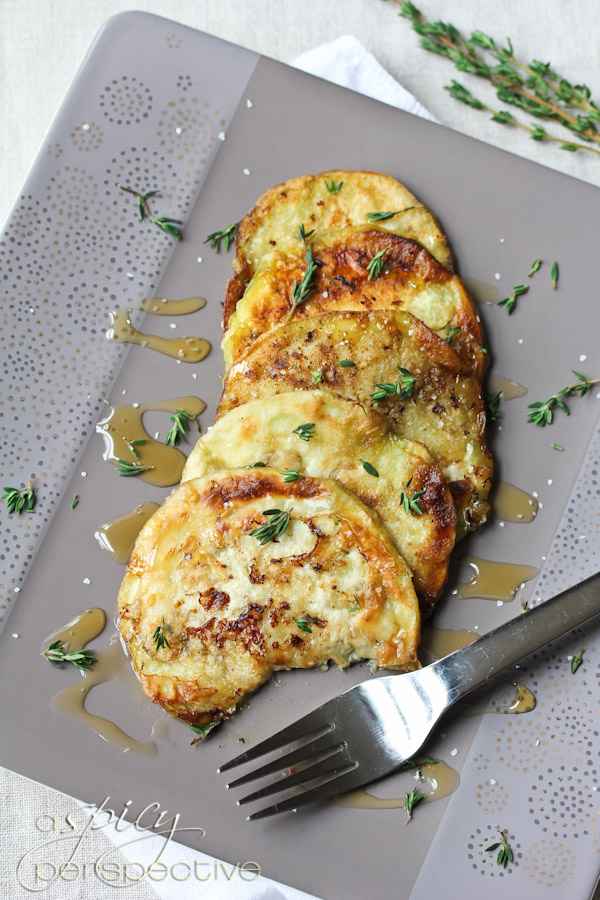 villeroy and boch sauteed eggplant with honey and thyme recipe