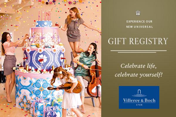 Announcing Villeroy & Boch Gift Registry