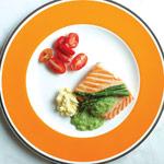Salmon with Egg Tapenade Recipe