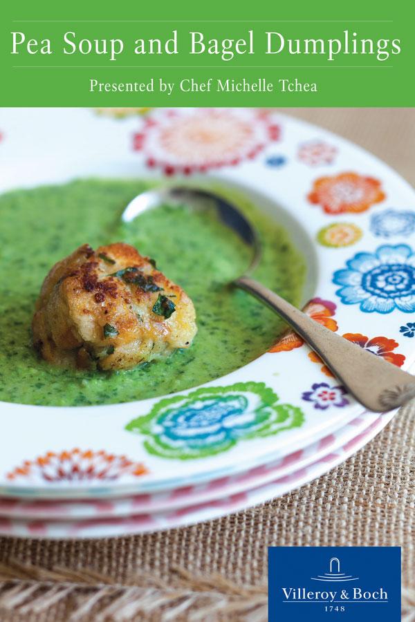 Pea Soup and Bagel Dumplings Recipe