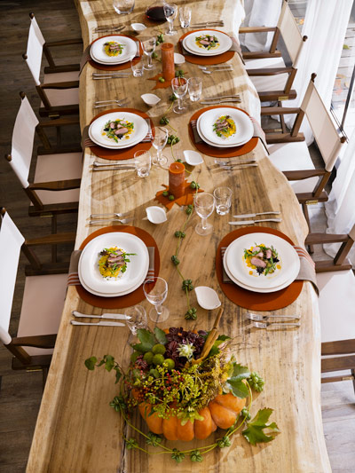 Fall Table with New Cottage Dinnerware