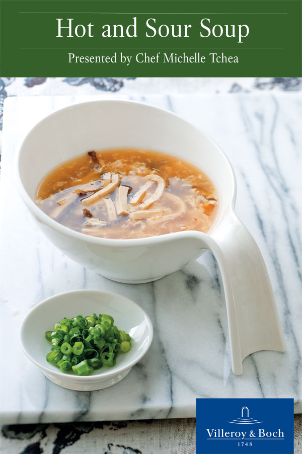 Hot and Sour Soup served in a Flow bowl by Villeroy & Boch