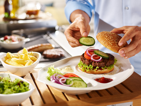 BBQ Passion Burger Plate