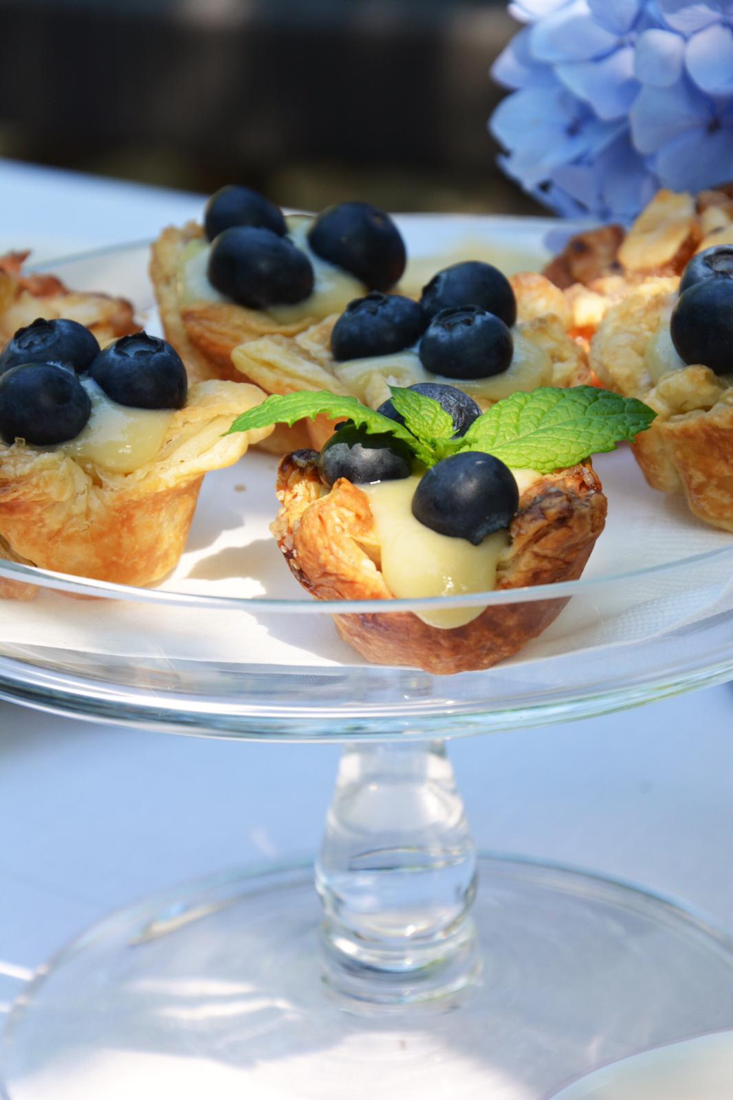 Blueberry Tarts with Lemon & Lavender Pastry Cream